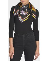 Versace - Scarf Square In Black Silk - Lyst