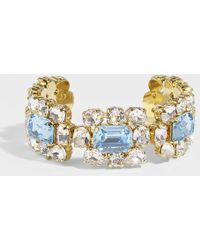 Shourouk - Ritz Aquamarine Bracelet In Blue Metal - Lyst