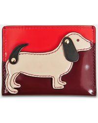 Tory Burch - Dachshund Slim Card Case In Liberty Red Goatskin Leather - Lyst