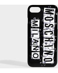 Moschino - Print Runway I-phone 8 Case In Black Pvc - Lyst