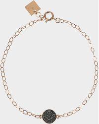 Ginette NY - Mini Black Diamond Ever Disc Bracelet - Lyst