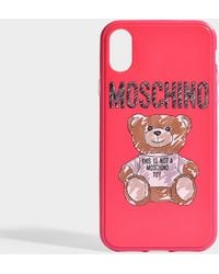 Moschino - Toy Iphone Xs Case In Pink Pvc - Lyst