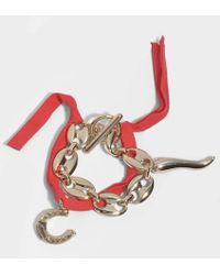 Carven - Charms Bracelet In Espelette Brass - Lyst