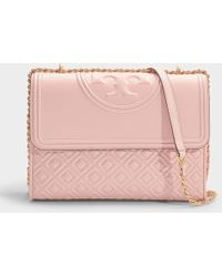 f6f738a54 Tory Burch - Fleming Convertible Shoulder Bag In Shell Pink Calfskin - Lyst