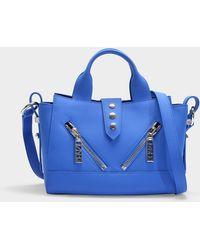 KENZO - Kalifornia Mini Bag In Cobalt Split Leather - Lyst fc1989005e4e2