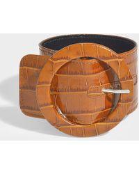 Attico - Bracelet de cheville avec boucle ronde en matière synthétique cognac - Lyst