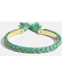Aurelie Bidermann - Petit Bracelet Copacabana en Laiton Plaqué Or 18K Vert Emeraude - Lyst