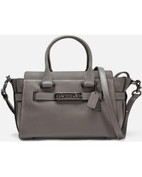 COACH - Swagger 27 Carryall Bag In Heather Grey Calfskin - Lyst