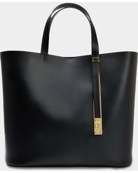 Sophie Hulme - The Exchange E/w Bag In Black Cow Leather - Lyst
