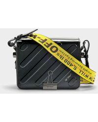 Off-White c/o Virgil Abloh - Diag Padded Flap Bag In Black Calfskin - Lyst