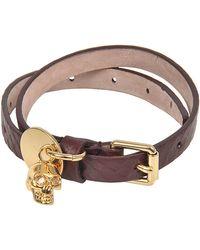 Alexander McQueen - Skull Charm Double Bracelet - Lyst
