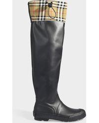 e4ec56d9813 Lyst - Bottes hauteur genou Burberry femme à partir de 135 €