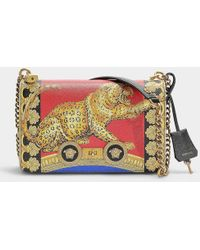 b82844b1c99f Versace - Small Pillow Talk Shoulder Bag In Printed Red Calfskin - Lyst