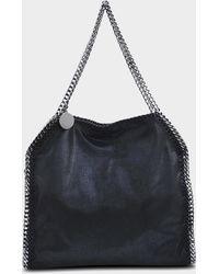 Stella McCartney Mini Tote Bag Metallic Shaggy Deer Falabella en Eco-Cuir Bleu Lagon Ct0y58Hv