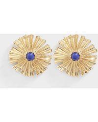 Aurelie Bidermann - Sofia Small Earrings In Lacquered Blue Metal - Lyst