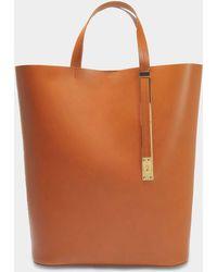 Sophie Hulme - The Exchange N/s Bag In Tan Cowhide - Lyst