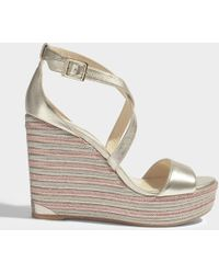 Jimmy Choo - Portia 120 Cross Front Wedges - Lyst