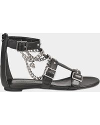 Alexander McQueen - Flat Sandal With Chains - Lyst