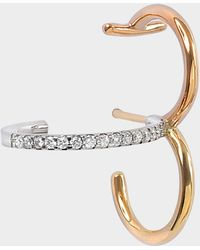 Charlotte Chesnais - Clover Mono Earring In Yellow, Rose And White 18k Gold And Diamonds - Lyst