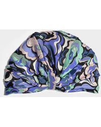 Emilio Pucci - Printed Turban In Multicolor Silk - Lyst