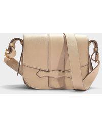 Vanessa Bruno - Gemma Medium Crossbody Bag In Greige Calfskin - Lyst