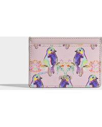 Furla - Babylon Small Credit Card Case In Pink Saffiano Calfskin - Lyst