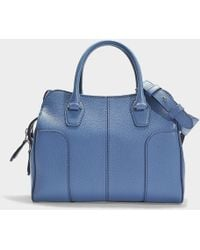 Tod's - Sella Soft Small Bag In Black Grained Calfskin - Lyst