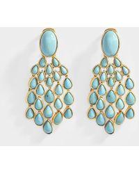 Aurelie Bidermann - Cherokee Earrings With Lapis Lazuli In Gold Plated Brass - Lyst