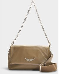 Zadig & Voltaire - Rocky Crossbody Bag In Taupe Calfskin - Lyst