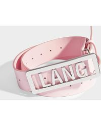 Helmut Lang - Lang Name Plate Belt - Lyst