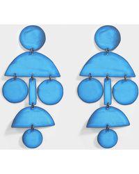 Annie Costello Brown - Pom Pom Earrings In Blue Oxide - Lyst