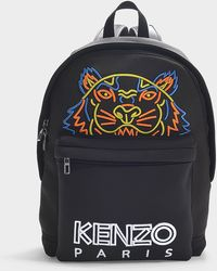 KENZO - Rucksack Icon Backpack In Black Rubber And Polyester - Lyst