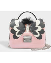 Furla - Candy Melita Meringa Mini Crossbody Bag In Pink Pvc - Lyst