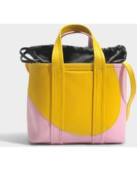 Pierre Hardy - Tote Bag In Yellow Pink Calfskin - Lyst