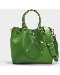 MICHAEL Michael Kors - Blakely Medium Bucket Bag In Green Calfskin - Lyst