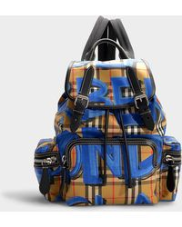 Burberry - Medium Graffiti Print Rucksack In Black Nylon - Lyst