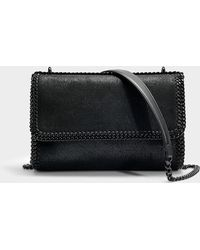 Stella McCartney - Black Chain Falabella Shoulder Bag In Black Synthetic Material - Lyst