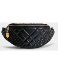 Versace - Belt Bag In Black Quilted Calfskin - Lyst