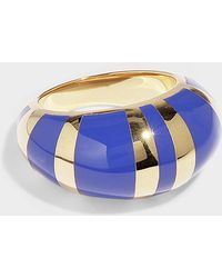 Aurelie Bidermann - Positano Ring In Red Resin And Gold Plated Brass - Lyst