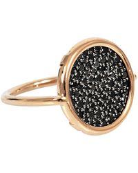 Ginette NY - Black Diamond Disc Ring - Lyst