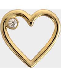 Aurelie Bidermann - Fine Jewellery - 18k Love Single Earring With Diamond - Lyst