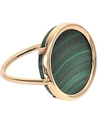 Ginette NY | Ever Malachite Disc Ring | Lyst