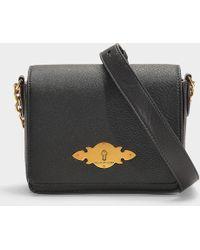 0d54564572 ... low price polo ralph lauren brooke small chain crossbody bag in black  calfskin lyst c4369 1aabb