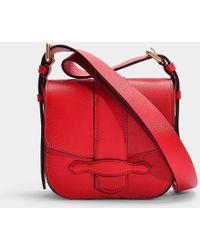 Vanessa Bruno - Mini Gemma Crossbody Bag In Vermilion Calfskin - Lyst