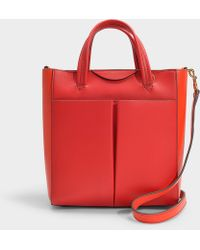 81d7641f0089 Anya Hindmarch - Nevis Tote Mini Crossbody In Bright Red Circus Leather -  Lyst