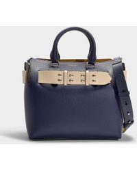 62b6d5db75 Burberry - Small Belt Bag In Royal Blue Calfskin - Lyst