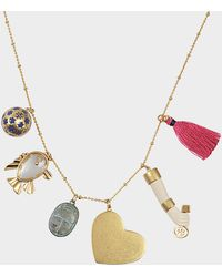 Tory Burch - Charm Pendant Necklace - Lyst
