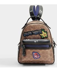 COACH - Signature Multi Patches Campus Backpack In Brown And Black Canvas - Lyst