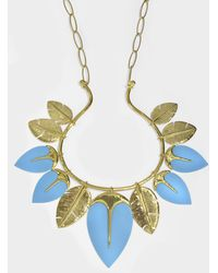 Aurelie Bidermann - Talitha Long Necklace In Turquoise 18k Gold-plated Brass - Lyst