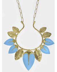 Aurelie Bidermann - Talitha Long Necklace In Turquoise - Lyst